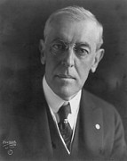 Nobel Peace Prize Framed Prints - Woodrow Wilson (1856-1924) Framed Print by Granger