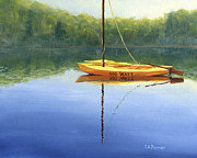 New Hampshire Artist Prints - 100 Watts sailboat Print by Elaine Farmer