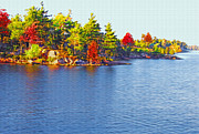 Peaceful Scenery Mixed Media Prints - 1000 Island Scenes 6 Print by Steve Ohlsen