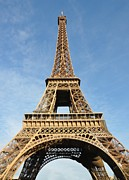Macjac Prints - 100103 Paris - Eiffel Tower Print by MacJac