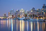 Macjac Prints - 100105 Vancouver - At Night Print by MacJac