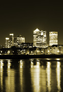 London Skyline Digital Art Prints - 100130 London Print by MacJac