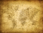 Old Map Digital Art - 100146 Vintage Map by MacJac