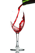 Wine Pour Digital Art Posters - 100161 Wine Poster by MacJac