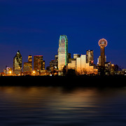 Dallas Skyline Digital Art Prints - 100177 Dallas Print by MacJac