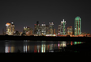 Dallas Skyline Digital Art Prints - 100178 Dallas Print by MacJac