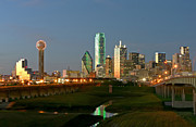 Dallas Skyline Digital Art Prints - 100179 Dallas Print by MacJac