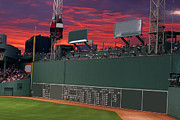 Green Monster Digital Art Prints - 100190 Green Monster Fenway Park Print by MacJac