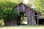 Wooden Structures Prints - 1008 Barn Print by Lisa Moore