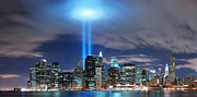 Macjac Prints - 10087 New York City - Twin Tower Lights Print by MacJac