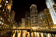 Macjac Prints - 10095 Chicago - Downtown Print by MacJac