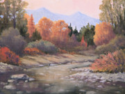 Cottonwood Paintings - 101106-68  Gently Flowing by Kenneth Shanika