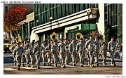 Marching Band Framed Prints - 101st Airborne Division Band Framed Print by Sheri Bartoszek