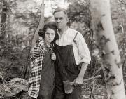 Overalls Posters - Silent Film Still: Couples Poster by Granger