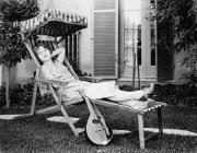 Lawn Chair Metal Prints - Silent Film Still: Woman Metal Print by Granger