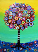 Flower Paintings - Tree Of Life by Pristine Cartera Turkus