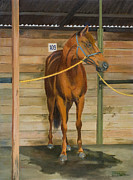 Stable Painting Originals - 109 at Ascot Racecourse by Jocelyn McMath