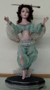 Silver Turquoise Ceramics - 10MD117 - Harem Belly Dancer by Shirley Heyn