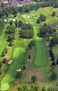 Plymouth Meeting Aerials Prints - 10th Hole 2 Sunnybrook Golf Club 398 Stenton Avenue Plymouth Meeting PA 19462 1243 Print by Duncan Pearson