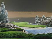 Golf Green Prints - 10th Hole Print by Peter  McIntosh