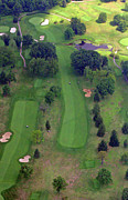 Plymouth Meeting Aerials Prints - 10th Hole Sunnybrook Golf Club 2 Print by Duncan Pearson