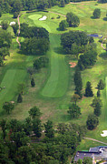Sunnybrook Golf Club Aerials By Duncan Pearson Originals - 10th Hole Sunnybrook Golf Club 398 Stenton Avenue Plymouth Meeting PA 19462 1243 by Duncan Pearson