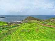 Cape Cornwall Prints - 10th Tee at Cape Cornwall Golf Course Print by Chris Thaxter