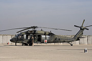 Us Open Framed Prints - A Uh-60 Blackhawk Medivac Helicopter Framed Print by Terry Moore