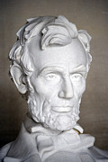 Statue Portrait Prints - Abraham Lincoln (1809-1865) Print by Granger