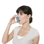 20s Posters - Asthma Inhaler Use Poster by