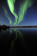 Bizarre Art - Aurora Borealis Over Long Lake by Jiri Hermann