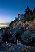 Maine Lighthouses Posters - Bass Harbor Lighthouse Poster by John Greim