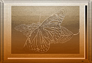 Fluttering Posters - Butterfly Collection Design Poster by Debra     Vatalaro