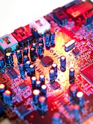 Component Metal Prints - Circuit Board Metal Print by Tek Image