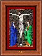 Gold Glass Art Prints - Drumul Crucii - Stations Of The Cross  Print by Buclea Cristian Petru