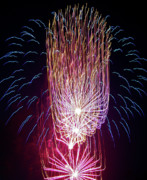 Photos Of Autumn Prints - Fireworks Print by Brent Parks