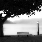 Plane Framed Prints - Lake Maggiore Framed Print by Joana Kruse