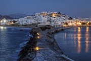 Lit Metal Prints - Naxos - Cyclades - Greece Metal Print by Joana Kruse