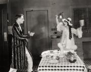Bathrobe Photos - Silent Film Still: Guns by Granger
