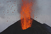 Incline Posters - Stromboli Eruption, Aeolian Islands Poster by Martin Rietze