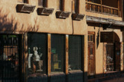 Curio Art - 11113 Sun Weathered Downtown Santa Fe by John Prichard