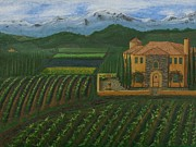 Grape Vineyards Originals - 11425 Tuscany by L J Oakes