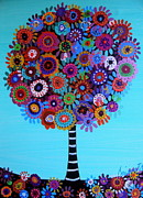 Baptism Gift Posters - Tree Of Life Poster by Pristine Cartera Turkus