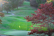Clarksville Framed Prints - 11th Hole at Clarksville CC Framed Print by Ed Gleichman