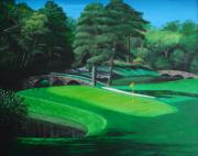 Sports Art Paintings - 11th Hole by Jennifer Hotai