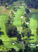 Sunnybrook Golf Club Aerials By Duncan Pearson Originals - 11th Hole Sunnybrook Golf Club 398 Stenton Avenue Plymouth Meeting PA 19462 1243 by Duncan Pearson