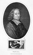 Oil Lamp Framed Prints - Blaise Pascal (1623-1662) Framed Print by Granger