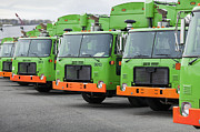 Recycle Prints - Garbage Truck Fleet Print by Don Mason