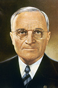 Mid-20th Framed Prints - Harry S. Truman (1884-1972) Framed Print by Granger