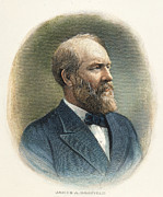 1880s Framed Prints - James A. Garfield (1831-1881) Framed Print by Granger